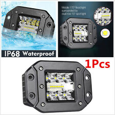 1Pcs 120W 9600LM LED Flood Work Pods Light Flush Mount Driving SUV Off road Lamp