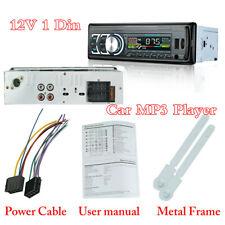 Bluetooth 1Din Car Stereo Audio FM Radio MP3 Player USB TF-card USB AUX Input