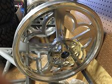 "IRONHORSE,HARLEY,CUSTOM CHOP ""PENTICALE"" FRONT WHEEL  POLISHED BILLET 21 X 2.15"