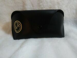 Ray ban Black Leather Case & Gray cleaning cloth