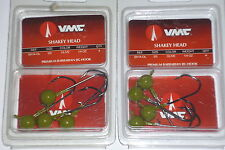 VMC Barbarian Shakey Jigs (Lot of 2-Watermelon-1/4-4/pk)
