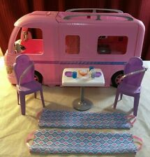 Mattel Barbie Dream Camper Pink Rv Bus Home Van Motor Playset & Accessories