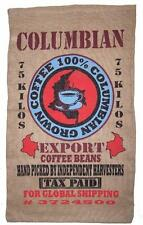 COLOMBIAN COFFE BEAN BURLAP BAG #26 feed bags gunny sack novelty WALL decor SAC