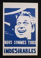 Affiche mai 68 NOUS SOMMES TOUS INDÉSIRABLES Cohn-Bendit poster 1968