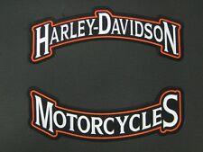 "Harley Davidson Motorcycle Rocker Patch Set ""Large"""