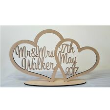 Personalised custom Heart wedding home gift wooden letters sign Style 2