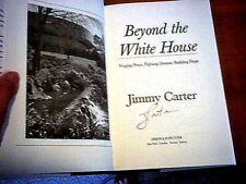 JIMMY CARTER BEYOND WHITE HOUSE 2007  Hand Signed FIRST EDITION 1st Pr HCDJ AsNw