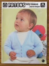 PATONS KNITTING - 474 BABY CLASSICS POPULAR DESIGNS BABIES 3 4 5 8 PLY