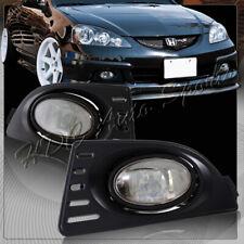 For 2005-2007 Acura RSX Chrome Housing Smoked Lens Bumper Fog Driving Light Lamp
