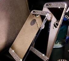 Miroir Bling Cristal Diamant TPU Gel Boitier Pare Chocs