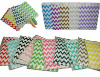 Small Paper Gift Bags x 24 Chevron For Loot Candy Buffet Wedding Party Favours