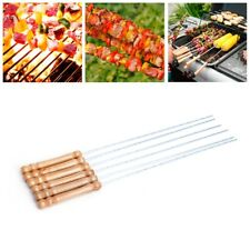 6pcs Stainless Steel BBQ Roast Barbecue Skewer Grill Kebab Stick Needles