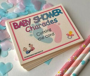 Baby Shower Games Charades Unisex Funny Pink Blue Virtual Lockdown Zoom