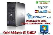 PC COMPUTER FISSO USATO GARANTITO Dell380 Tower Dual Core 2 GB/160 W7 economico