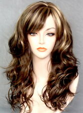 Long Wavy Browns and blonde mix OFF CENTER Part WIG JSPP 8-12-24