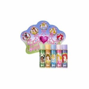 Lip Smacker Disney Princess Lip Balm Crown Tin Pack Variety 5 Pack
