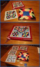 CUBETTI TANGRAM anni 50 in legno vari colori per comporre figure