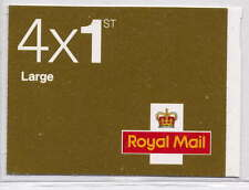 GB 2010 4 x 1st LARGE BOOKLET RB2a Code MA10 MFIL