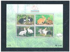 THAILAND 1999 Rabbits (Fauna) S/S.