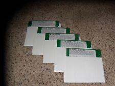 "Lot of 5 5.25"" floppy disks: Gravity Desk, Clip Art, WINUPD8R, Back Desk + 1"
