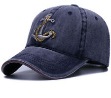 anchor ship cap army navy washed soft cotton baseball cap hat for women and men