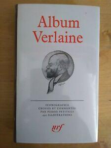 La Pléiade ALBUM VERLAINE 1981 avec boitier en rhodoïd d'origine
