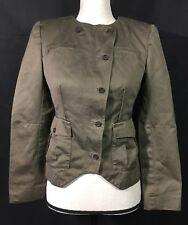 Women's Banana Republic Olive Green Blazer Jacket Size 2
