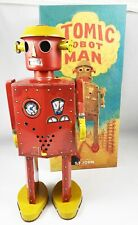 Robot - Robot Marcheur Mécanique en Tôle - Atomic Robot Man Géant Rouge (St.John