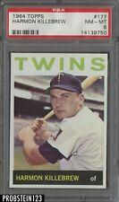 1964 Topps #177 Harmon Killebrew Twins HOF PSA 8 NM-MT