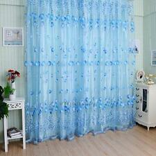 Thermal Blackout/ Voile Door Window Curtains Ring Top Pencil Pleat FREE Tie back
