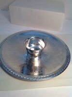 Vintage Silver Plate Serving Platter With Bowl
