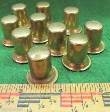 Lot of Ten Old Brass Finials