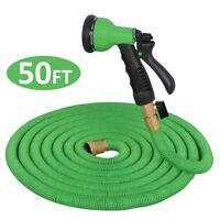 50 Feet Garden Hose Strongest Expandable Hose Flexible water hose w/ All Brass