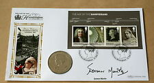 HOUSE OF HANOVER MS 2011 BENHAM COIN FDC SIGNED BY ACTRESS DOREEN MANTLE