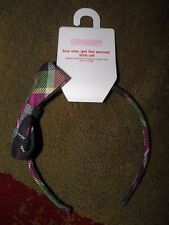 "GYMBOREE ""Merry and Bright"" Plaid Bow Headband~ NEW!"