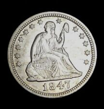 1847-P Seated Liberty Quarter - Beautiful Coin