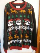 UGLY CHRISTMAS  SWEATERS MEN'S SIZE L