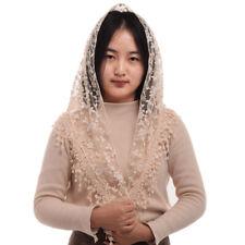Women Lace Mass Church Wedding Mantilla Head Covering Catholic Chapel Veil