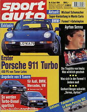 sport auto 6/94 1994 Arrows A15 De Tomaso Guará Escort RS 2000 MTM Audi S2 RSR