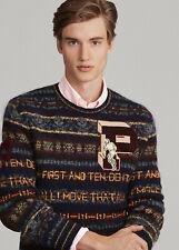 Polo Ralph Lauren Fair Isle - Alpaca Wool Mohair Jumper - New Men's Size 3XB