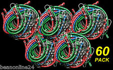 Bulk 60 Pack Assorted Bungee Cords / Octopus Straps Occy Straps