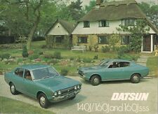 DATSUN Nissan VIOLET MK2 1976-77 UK vendite sul mercato opuscolo 140J 160J SSS