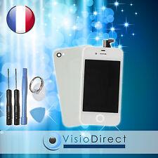 Vitre tactile ecran LCD sur chassis pour iPhone 4S blanc + vitre arrière +outils
