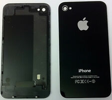 COVER POSTERIORE VETRO PER IPHONE 4 -- nero