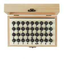 36PC 5MM STEEL LETTER & NUMBER SECURITY POSTCODE PUNCH STAMP SET METAL