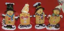 4 Piece Set of Christmas Cute Cookie People  1280