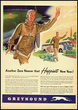 1943 vintage Ww2 ad for Greyhound Buslines -122211
