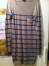 Abito maglione lungo righe TOPSHOP striped long sweater tunic dress UK8 IT40