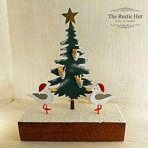 Seagulls Christmas Tree Standing Nautical Ornament by Shoeless Joe