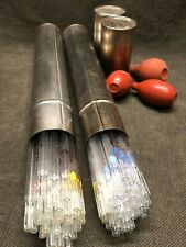 LOT 79 each Pipet w/Canisters, pipette canister lab glass